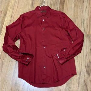 Perry Ellis red long sleeve button down medium